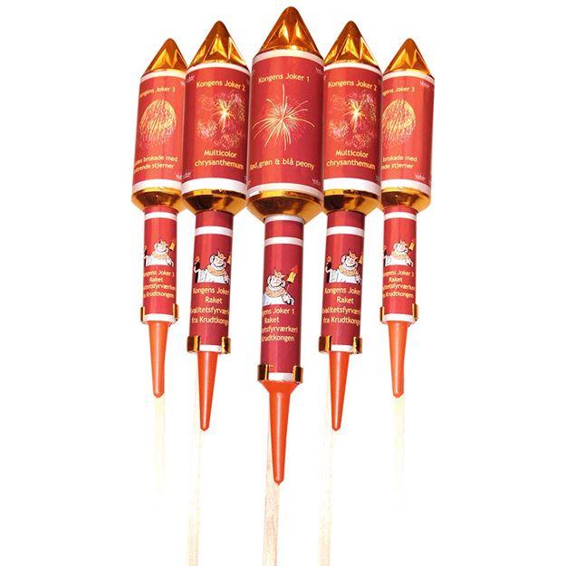 Kongens raketmix 5 stk. raketpakke