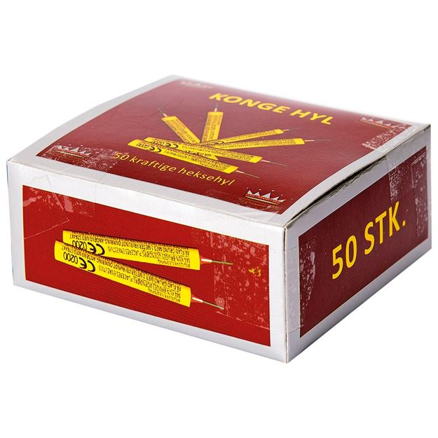Konge Hyl - 50 stk. kvalitetshyl i æske